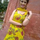 Beautiful Girl in Punjabi Yellow Salwar Kameez Suit