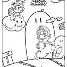 Free Printable Super Mario Game Coloring Page