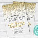 50th Anniversary Invitation   Printable Invite Instant Download  Digital Download