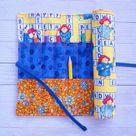 Roll up pencil case Paddington bear crochet hook paintbrush | Etsy