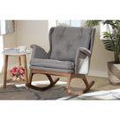 Maggie Mid-Century   Rocking Chair - Grey
