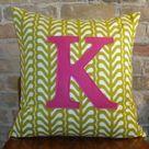Monogram Pillows