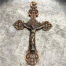 Crucifix    Bronze Crucifix   Sterling Silver Crucifix   Vintage Replica   Made in the USA C50 1078
