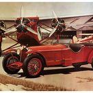 1931 ALFA ROMEO 8c 2300 Le Mans in an illustration of Paul Bracq