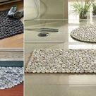 Fantastische DIY Fußmatte aus Steinen