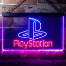 Playstation Game Room Neon-Like LED Sign, Gift For Gamers - Red & Blue / 16 in W x 12 in H (40cm x 30cm)