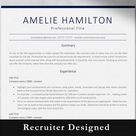 Professional resume template for Word Modern resume template   Etsy