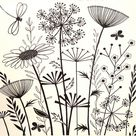 Summer Meadows, unmounted rubber stamp these whimsical wildflowers by Crafty individual - Easy flowers