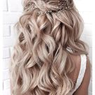 prom hairstyles half up half down long curls