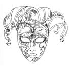 Venice carnival mask - Carnival Coloring Pages for Adults - Just Color