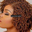 Short Kinky twists wig braid wig