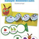 Raupe Nimmersatt® - Bastelvorlage #Homeschooling