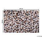 Zyskaj 10zł rabatu przy użyciu kodu PinterestPL. Dywan brązowo-beżowy skórzany 160 x 230 cm wzór geometryczny patchwork tkany ręcznie do salonu sypialni styl nowoczesny rustykalny Beliani