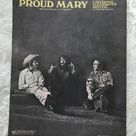 Vintage Creedence Clearwater Revival Proud Mary Sheet Music - 1968 - from DustyMillerAntiques