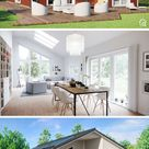 Fertighaus Bungalow SH 147 B mit Holz Fassade - ScanHaus Marlow   HausbauDirekt.de