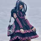 9.35US $ 46% OFF|Neue Japanische Harajuku Gothic Frauen Mode Temperament Lolita Kleider Herbst Süße Rosa Plaid Blase Hülse Kawaii Kleid|Kleider|   - AliExpress