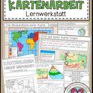 Kartenarbeit Lernwerkstatt für Erdkunde Klasse 5 und 6 | Geographie Unterricht