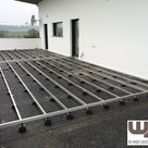 Bilder WPC Aluminium / Alu Unterkonstruktion für Terrassendielen WPC Terrasse Balkon