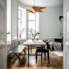 Modern Industrial Dining Table Wood Pendant Light | Ceiling Wooden Chandelier Lighting Design Lamp