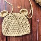 Chunky Crochet Bear Beanie a Free Crochet Pattern