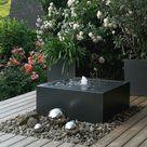 Springbrunnen Alu-Wassertisch Kubus 100 - Slink | Ideen mit Wasser