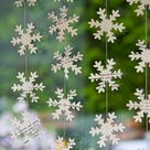 Holiday decor, Christmas clearance, Holiday party, H, Modern Christmas, Snowflake garland, Winter Christmas decorations