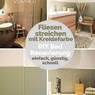 Fliesen streichen mit Kreidefarbe – schnell, günstig, einfach. So haben wir Bad und WC mit kleinem Budget selbst renoviert
