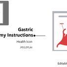 Health Icon – Gastric Anatomy Instructions