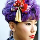 Short purple hair. Tokyo. (To much for me but really cute!)