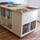 Cutting table (extra large) with lots of practical storage - IKEA Hackers