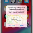 iPhone showing Apple ID Sign In Requested