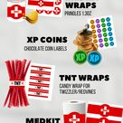 Printable Fortnite Party Supplies Perfect for a Fortnite Themed Birthday Party