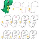 Draw T-rex Dinosaur - Busy Shark