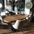 DIKKE BERTHA  ovale eetkamertafel massief vuistdik oud teak - 240