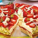 Feine Erdbeer-Baumkuchentorte