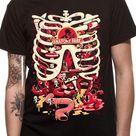 Rick & Morty Anatomy Park Men's Black T-Shirt - X-Large / Black