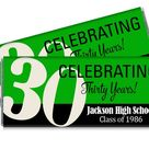 10th 20th 30th any year or color Reunion Candy Bar Wrappers   Etsy