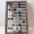 Vintage Russian Wooden Abacus Wood Calculator USSR