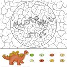 Stegosaurus Color by Number | Free Printable Coloring Pages