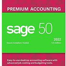 Sage 50 Premium Accounting 2022 U.S. 1-User Small Business Accounting Software [PC Download]