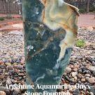 Argentine Aquamarine Onyx Stone Fountain by The Rock Star Gallery®