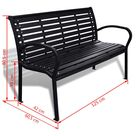 Garden Bench 125 cm Steel and WPC Black