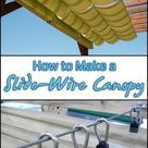 How to Make a Sliding, Wire-Hung Canopy   Your Projects@OBN