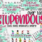The Stupendous Bundle - Over 1500 Files SVGs Fonts Mockups (1128670) | SVGs | Design Bundles