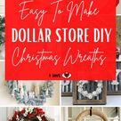 Easy To Make Dollar Store DIY Christmas Wreaths