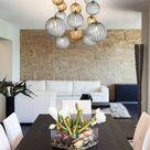 BREEZE  Modern dining custom BLOWN GLASS globe pendant LED Chandelier