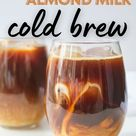 A deliciously sweet cold coffee with almond milk (just like Starbucks)