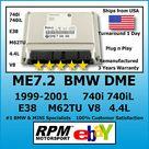 eBay BMW 740i 740iL E38 DME ME7.2 M62 M62TU 4.4L PnP 1999 2001 / RPM Motorsport
