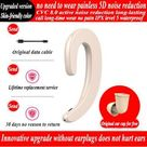 The integrated bone conduction type hanging ears monaural bluetooth wireless headset, wireless headset with warehouse - Beige