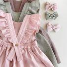 Linen Baby Dress, Toddler Ruffle Dress, Linen Pinafore, 1st Birthday Dress, Linen Baptism Dress, Summer Dress, Toddler Pinafore